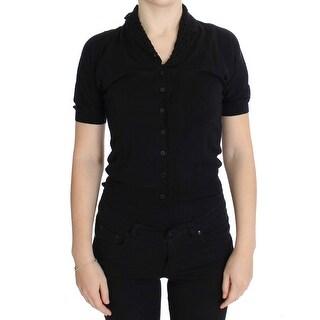 Dolce & Gabbana Black Silk Cardigan Sweater