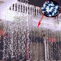AGPtek 18Mx3M Linkable Fairy Curtain Lights Strings Connectable Lights 8 Lighting Modes