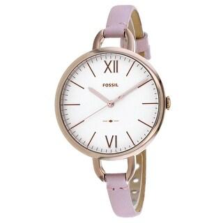 Fossil Women's Annette ES4356 White Dial watch