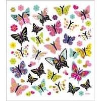 Butterflies In Glitter - Multicolored Stickers