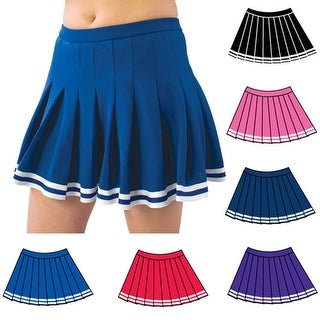Pizzazz Multi Color Pleated Cheer Uniform Skirt Girls 2-16
