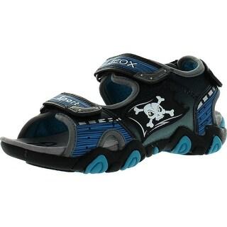Geox Boys Kids Sandal Strike Light Up Skull Fashion Sport Sandals