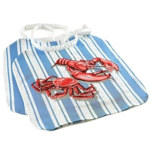 Norpro Adjustable Crab / Lobster Seafood Bibs 2 pk - Washable / Reusable Cotton