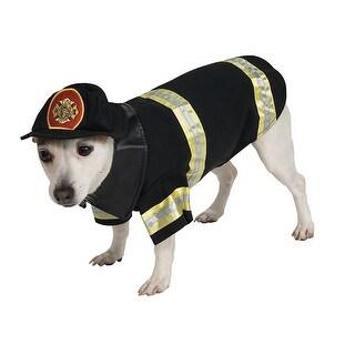 Pet Firefighter Halloween Costume Medium