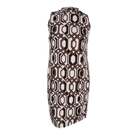 INC International Concepts Women's Plus Size Printed Shift Dress