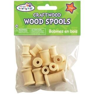 Craftwood Spools Assorted 13/Pkg-Natural