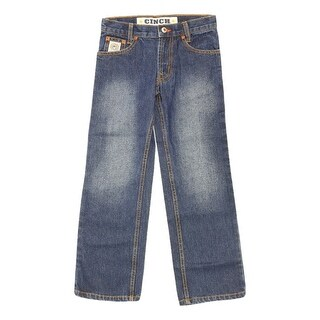 Cinch Western Denim Jeans Boys Slim White Label Dark Indigo