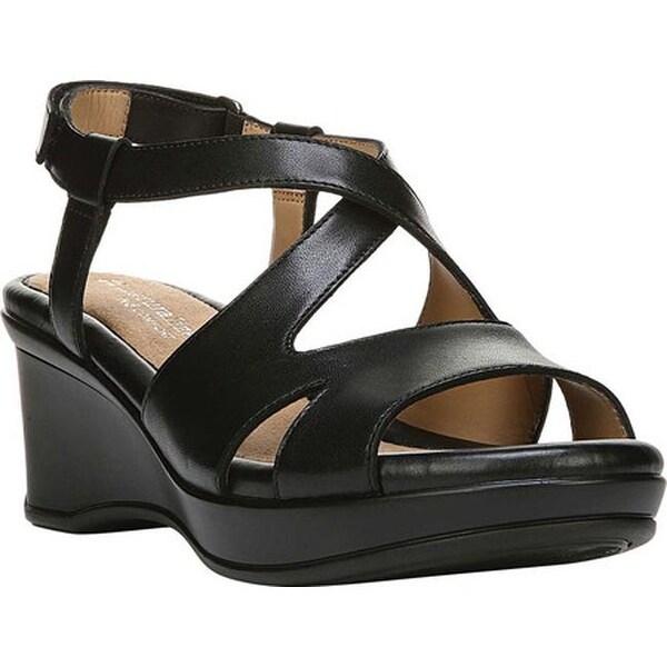 cdfd1984ce2b Shop Naturalizer Women s Villette Quarter Strap Sandal Black Leather ...