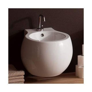 Scarabeo by Nameeks 8106 Planet Single Handle Wall Mounted Ceramic Bidet - Bowl