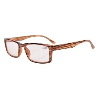 Eyekepper UV Protection,Anti Glare/Blue Rays,Amber Tinted Lenses Reading Glasses Men/Women Brown +0.75