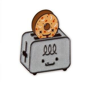 Kidrobot x Travis Cain BFF Enamel Pin: El Tostador & Lenny