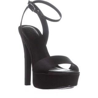 GUESS EMPRESS2 Heeled Sandals, Black Satin