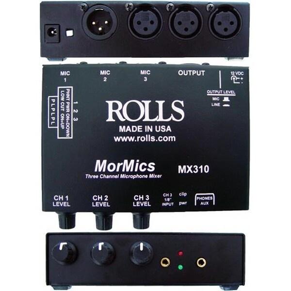 ROLLS MX310 MorMics 3Ch Mic Mixer-Combiner