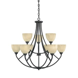 Designers Fountain 82989 9 Light 2 Tier Chandelier from the Tackwood Collection