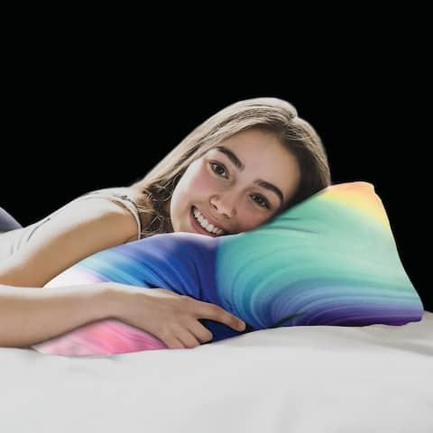 Groove Tie Dye Cluster Memory Foam Bed Pillow