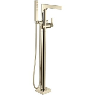 Delta T4774-FL Zura Floor Mounted Tub Filler with H2Okinetic Handshower - Less Rough-In Valve