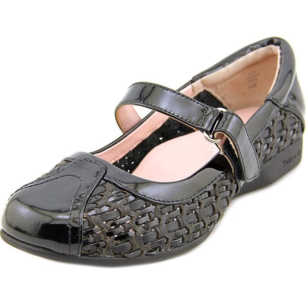 Taryn Rose True Women  Round Toe Patent Leather Black Mary Janes