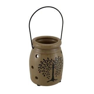 Crackle Finish Porcelain Willow Tree Decorative Candle Holder