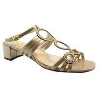 J. Renee Womens Terri Savanna Gold Sandals Size 7.5 (A, N)