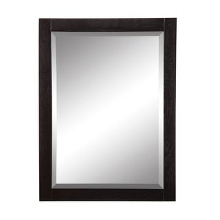 """DecoLav 9719 Briana 24"""" Rectangular Wall Mirror with Stainless Steel Accents"""