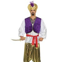 Forum Novelties Desert Sultan Adult Costume - Purple/Gold - Standard