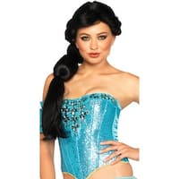 Princess Jasmine Wig, Jasmine Costume Wig - Black - One Size Fits most