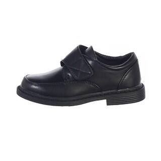 Little Boys Black Velcro Matte Special Occasion Dress Shoes 11-5 Kids