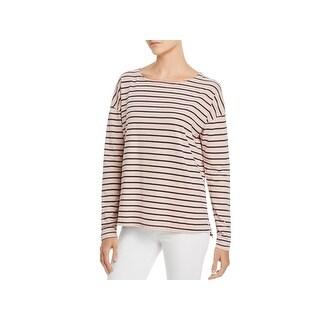 Current/Elliott Womens The Brenton Tee T-Shirt Striped Boatneck