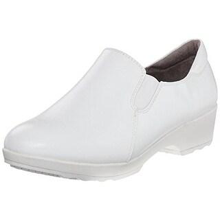 LifeStride Womens Buzz Work Shoes Faux Leather Slip Resistant