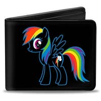 Rainbow Dash Outline Bi Fold Wallet - One Size Fits most