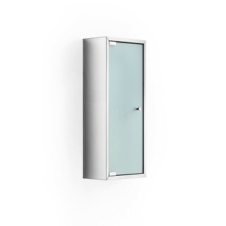 """WS Bath Collections Pika 51571 23.6"""" Single Door Frosted Glass Medicine Cabinet with Three Glass Shelves from the Linea"""