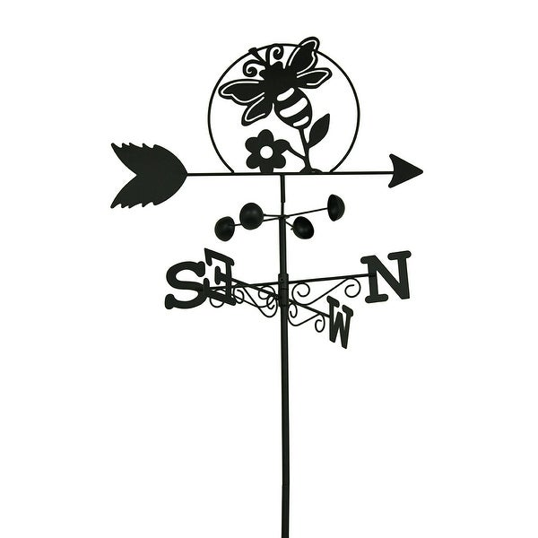 66 Inch Tall Blebee Decorative Weathervane Metal Garden Stake