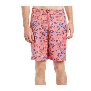 Southern Tide NEW Pink Seashell Scribble Mens Size Large L Trunks
