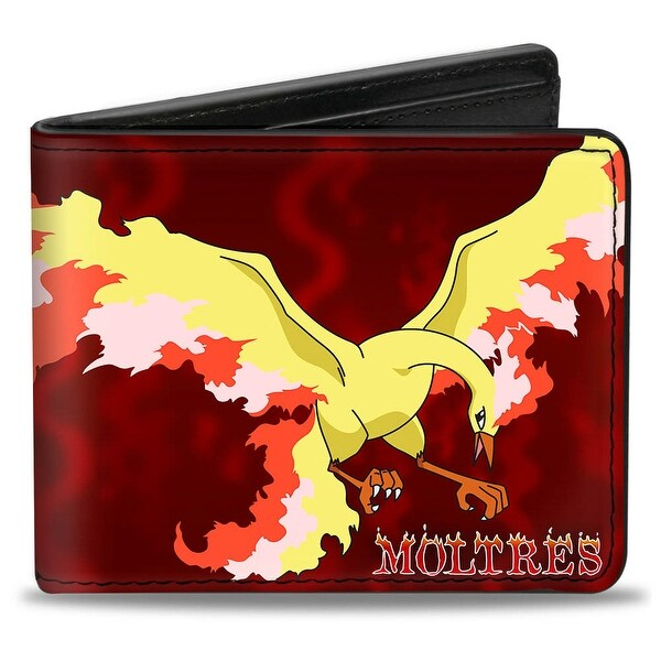 Moltres Fire Flying Pose Flames Reds Yellows Bi Fold Wallet - One Size Fits most
