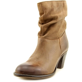 Steven Steve Madden Welded   Round Toe Leather  Ankle Boot