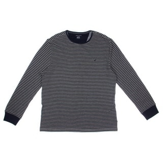 Nautica Mens Striped Crew Neck Thermal Shirt - XL