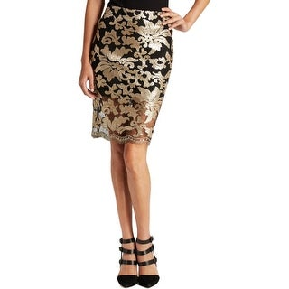 Endless Rose Womens Pencil Skirt Sequined Knee-Length - M
