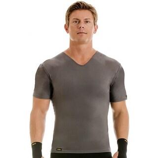 Insta Slim Pro Active Wear V-Neck Compression Slimming Under Shirt - Forza Gray