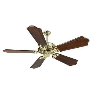 "Craftmade K10980 CXL 56"" 5 Blade Energy Star Indoor Ceiling Fan - Blades Included - polished brass"