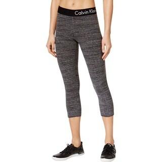 Calvin Klein Womens Athletic Leggings Knit Stretch
