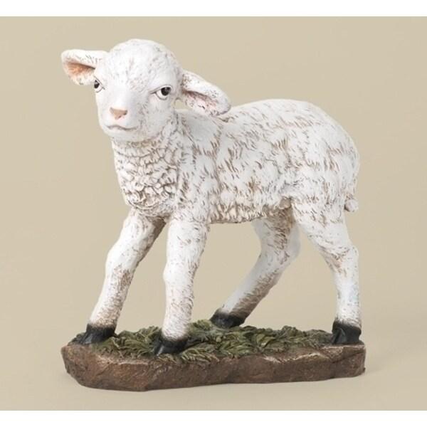 "39"" Joseph's Studio Lamb Outdoor Christmas Nativity Statue - WHITE"
