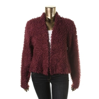 Halogen Womens Open Stitch Textured Cardigan Sweater - XL