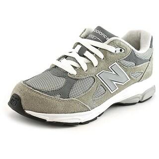New Balance KJ990 EW Round Toe Canvas Running Shoe