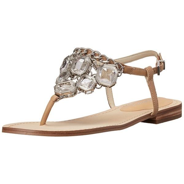 BCBGeneration Womens BAILA Leather Split Toe Casual Slingback Sandals