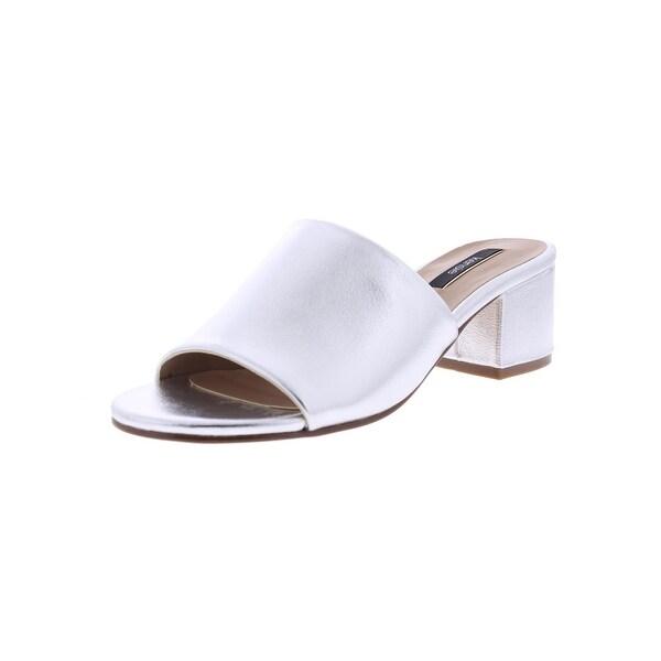 Kensie Womens Helina Slide Sandals Mules Block Heel