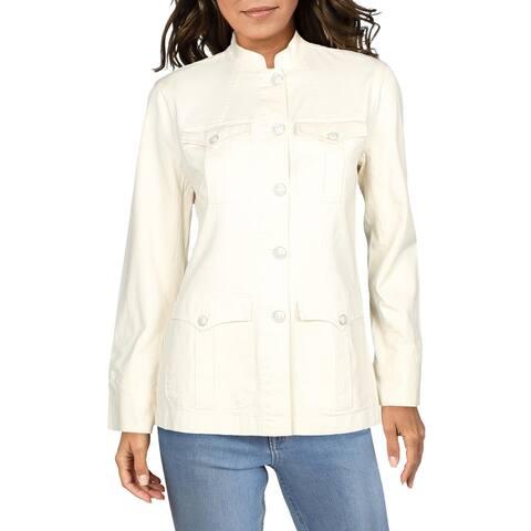 Lauren Ralph Lauren Womens Jacket Canvas Pocket - Raw Cotton
