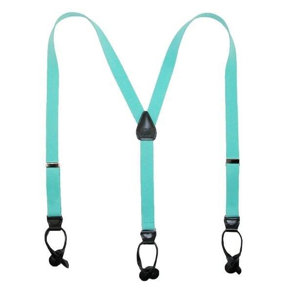 CTM® Elastic 1 Inch Wide Fashion Color Button-End Suspenders