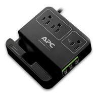 Apc 3-Outlet Plus 3 Usb Charging Ports Surgearrest Essential, Black