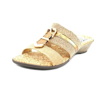 Love and Liberty Buckle   Open Toe Canvas  Slides Sandal