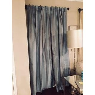Exclusive Fabrics Eaton Luxury Faux Silk Stripe Curtain